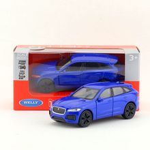 Welly DieCast Metal Model/1:36 Scale/JAGUAR F-PACE SUV Toy Car/Pull Back Educational Collection/Children's gift/Collection