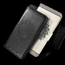 Flip Case for Huawei Mate 9 Embossed Mandala Flower Wallet Leather Stand Cover with Wrist Strap for Huawei Mate 9