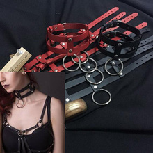 Buy Standard Leather Collar Terginum collar leather collar ring necklace BDSM Fetish punk leather
