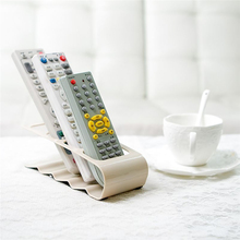 Acrylic Four Lattice Remote Storage Rack TV DVD VCR Step Remote Control Mobile Phone Holder Stand Home Storage Organiser Tools