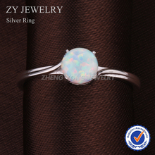 New Fashion Simple Design Elegant Crystal Opal Rings For Women 925 Sterling Silver Wedding Ring Charm Finger Rings Free Shipping
