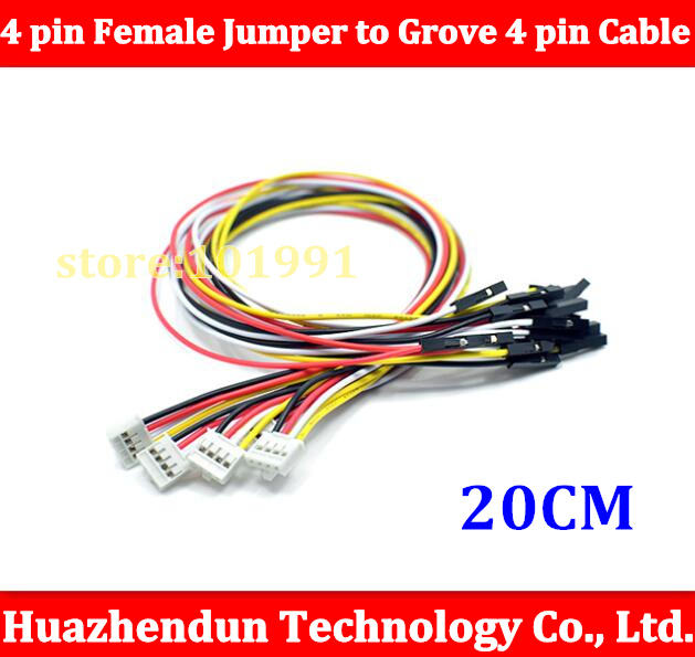 100PCS/lot Grove - 4 pin Female Jumper to Grove 4 pin Conversion Cable free shipping