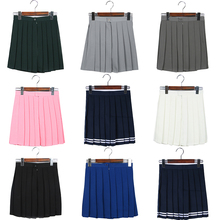 Mini Skirt High Waist Pleated Skirts JK Student Girls Solid Pleated Cute Cosplay School Uniform Skirt