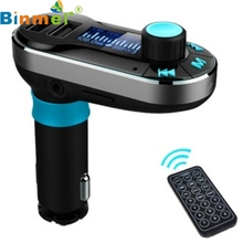 Top Quality Wireless Bluetooth FM Transmitter MP3 Player Car Kit Charger For iPhone 6/6 Plus For Samsung Galaxy S6/S6 Edge JUL 6