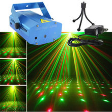 New Blue Shell Mini Portable 110-240V  Red Green Laser Meteor Projector Lights DJ KTV Home Party Dsico Xmas Stage Lighting O100U