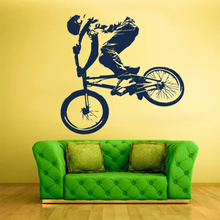 POOMOO Wall Decal Vinyl Sticker Decals Bike Cycle BMX Bicycle Jump 57x59CM(China)