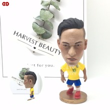 Soccer dolls figurine football stars Brazil Neymar Movable joints resin model toy action figure dolls collectible gift