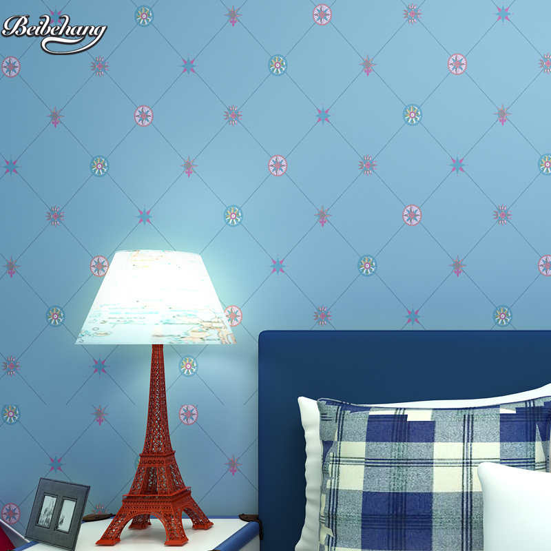beibehang Fashion British wind environmental non - woven living room bedroom TV background children s room color grid wallpaper<br>