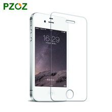 PZOZ For iphone 4 s tempered glass screen protector Slim 0.2mm full cover 2.5D before and after film ipone 4 s(China)