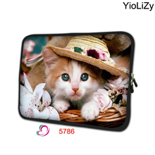 print cat Notebook sleeve 7.9 tablet case 7 mini Laptop Bag tablet cover computer Protective Skin for ipad mini 2 TB-5786