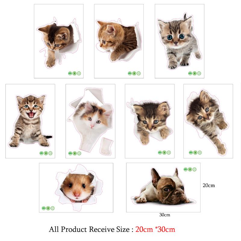 3d cats hamster wall sticker for bathroom 3D Cats Hamster Wall Sticker For Bathroom HTB1frtfXyMnBKNjSZFzq6A qVXaj