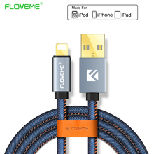 FLOVEME For iPhone 7 6 6S Plus 5 5S SE Denim USB Cable Mobile Phone Accessories Cables For iPad iPod iPhone 6 6S Charging Cable