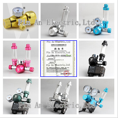 Aquarium DICI CO2 Regulator, DICI,coil plants! Solenoid Check Valve, Speed control Valve, bubble counters, CO2 table<br>