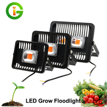 LED Plants Grow Light Waterproof High Power 30W 50W 100W Outdoor Floodlight 220V Spotlight Reflector Vegetables Flowering Lamp