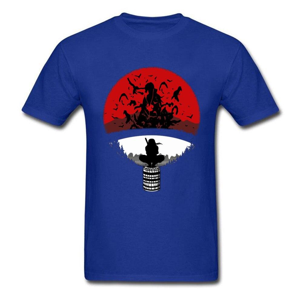 Itachi Uchiha Amazing Clan Round Collar T Shirt Father Day 3D Printed T Shirt Short Sleeve Popular 100% Cotton T Shirt Men's Itachi Uchiha Amazing Clan blue