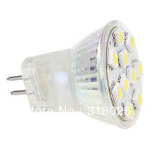 Free Ship!!! Dimmable White /Warm White 10LED MR11 Light  5050 SMD Wide Volt (AC/DC 12-24V) 140-160LM bi-polarity capable