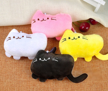 100PCS Bulk Wholesale Kawaii Mix Colors 9CM Smiling Cats Plush Stuffed TOY DOLL , Key chain Pendant Cat TOY