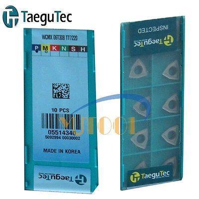 10pcs Taegutec WCMX06T308 TT7220 drill carbide inserts  CNC Milling bits  New<br>