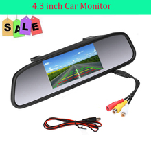 Car Rearview Mirror Monitor With Backup Reverse Camera TFT LCD Color Parking Assistance Rear View Camera Car Styling