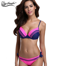JAONIFER Bikini Women 2017 New Women Swimsuit Big Cup Bikinis Swimwear Women Push Up Beachwear Summer Bathing Suit