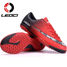 LEOCI Men Soccer Cleats Boots Turf Football Shoes Teenager Boy Hard Court Outdoor Sports Sneakers Adult Training TF Soccer Boot(China)