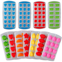 Cute Silicone Chocolate Mold Maker Ice Cube Tray Freeze Mould Bar Pudding Jelly #84002(China)