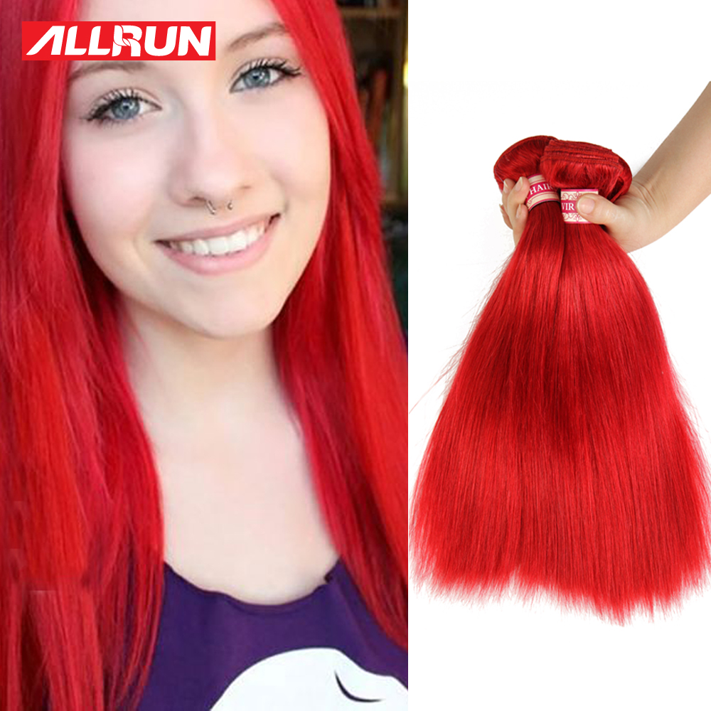100% Unprocessed Brazilian Virgin Hair Straight Red Color 3Pcs lot straight Hair Cheap Human Brazilian Hair Weave Bundles<br><br>Aliexpress