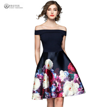 Buy 2018 Summer A-Line Sexy Dress Women Sleeveless Shoulder Slash Neck Floral Printed Party Mini Dresses Lady Vestidos OK1497 for $27.50 in AliExpress store