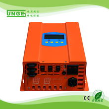solar charger regulator pwm controller 50a and pure sine inverter hybrid ups inverter 300w 12v 230v 50hz with mains charging