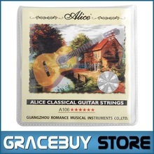 Classical Guitar String Clear Nylon String Hard Tension - Alice A106-H cordas da guitarra 1 set encordoamento Sring(China)