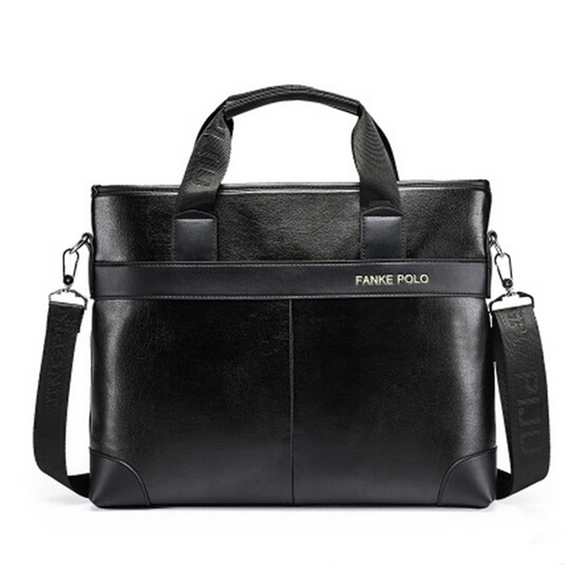 FANKE POLO Famous Brand Men Business Bag Leather Briefcase Handbag For 13 inch Laptop Male Crossbody Tote Bags Black Brown 105<br><br>Aliexpress