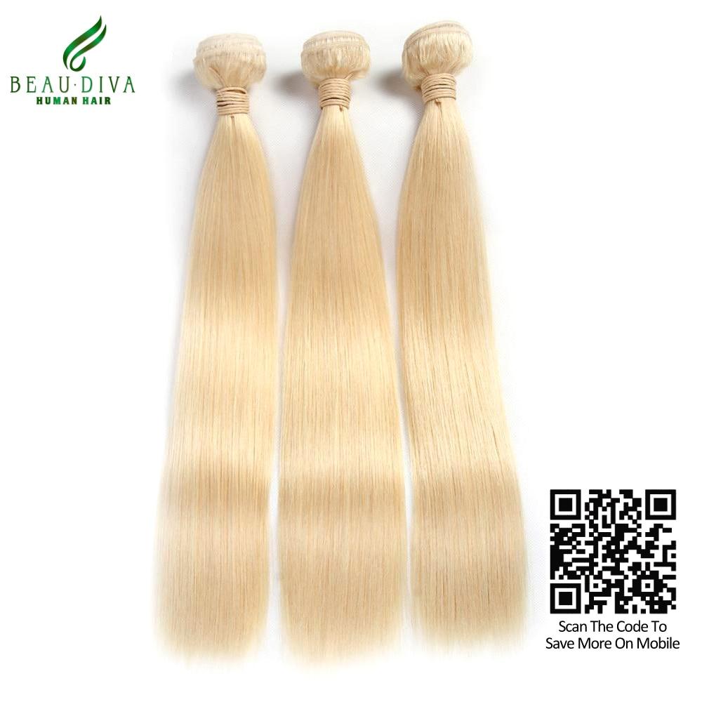 613 Blonde Virgin Hair 7A Straight Brazilian Hair Honey Blonde Brazilian Hair Weave 3 Bundles Platinum Blonde Remy Human Hair<br><br>Aliexpress