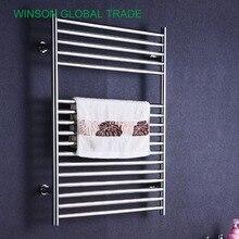 Chrome heated towel rails for bathrooms