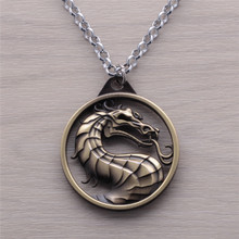 2017 Hot Game Mortal Kombat Dragon Pendant Necklace Jewelry Jewelry Theme Mortal Dragon Jewelry For Men And Women