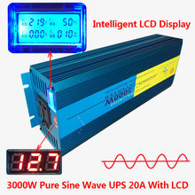Digital Display PURE SINE WAVE POWER INVERTER 3000W/6000W MAX DC 12V To AC 220V CAMPING BOAT SINEWAVE