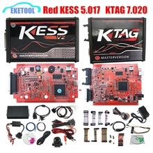 KESS 5.017 V2 KESS V5.017 K-TAG 7.020 K TAG 7.020 4LED SW2.23 Red EU Online Version New LED BDM Frame ECU Tool No Tokens Limited(China)