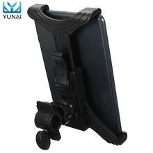 YUNAI Universal 7-11 inch Adjustable Motorcycle Bike Bicycle Mount Stand Holder For Samsung New Tablet PC Holder Stand For iPad