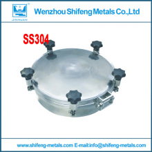 300mm SS304 stainless steel manhole cover