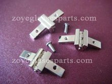 decorated hinge for eyeglass frame screw on eyeglass hinge for plastic wood horn glasses 7.0mm nickel delicate surface TH-32