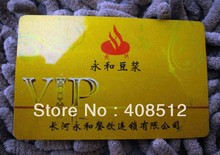 1000pcs Glittering plastic VIP cards / membership card/ gift discount cards printing service with unique barcode /serial numbers(China)