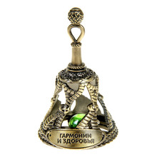 2015 New products for crafts classic golden bells for the New Year decoration of Harmony and health the Russia bells Wholesale(China)
