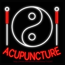 Neon Sign Acupuncture Needles Real Glass Tube Handcrafted neon signs Custom Health Store Display ADVERTISE Free Design 31x24(China)