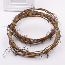 2016 2pcs Realistic Garland Green Leaf Iron Wire Artificial Flower Vine Rattan For DIY Wedding Decoration Foliage Wreath Flower