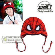 Baby Crochet Hat Knitted Beanie Super Hero Spiderman Toddler Kids Winter Beanie Baby Accessory Average Halloween Cosplay