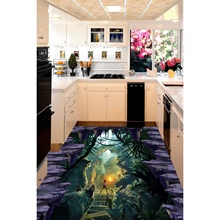3D pvc flooring custom wall stickerAnimal Kingdom 3D bathroom flooring painting photo wallpaper for walls 3d