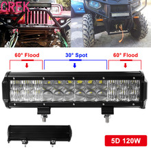 CREK 120W 12inch Led Chips Light Bar 5D Auto SUV Combo for Vehicle Driving Led Lamp Bar For Truck SUV Boat ATV Car Work Lights(China)