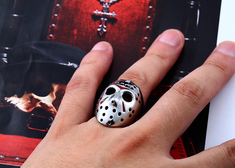 แหวนแฟชั่น Code 059 Friday 13 Series 2 สแตนเลส หน้ากากเจสันโหดๆ7