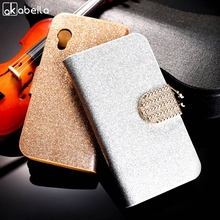 AKABEILA PU Leather Flip Case Bling Phone Case Cover For Samsung Galaxy Ace S5830 S5830I GT-S5830i 5830 Wallet Case Holster(China)