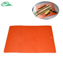 Jeebel Outdoor Camping kitchen Tool Flexible Ultra Thin Fruit Vegetable Cutting Chopping Board Mat Folding Plastic Block cushion(China)