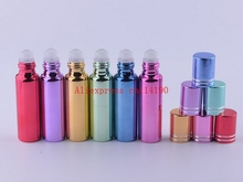 Brand new 200pcs 10ml glass perfume bottles wholesale refillable roll on bottles for essential oils glass vials with roller ball